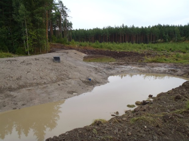 The possibility to control water levels in the wetland is essential for the maintenance of the site. In Härmälä wetland an adjustor dwell was assembled in the dam. The adjustor dwell allows very accurate water level regulation and allows the total drainage of the site for the maintenance and vegetation control every 5-10 years. A disaster pipe was also set in the dam in case of unusual flooding. Picture: Timo Niemelä