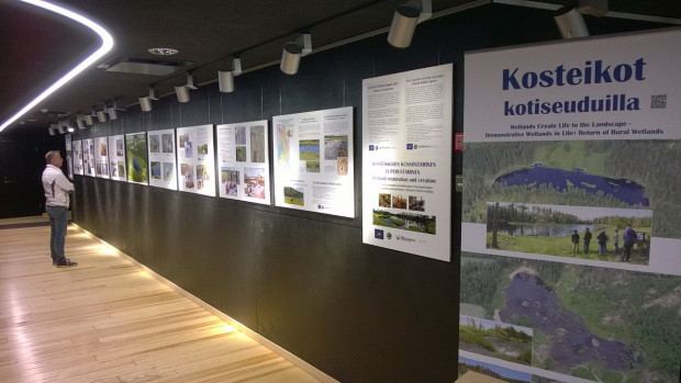 Exhibition of wetland restoration in Liminka Bay Visitor Center Finland2