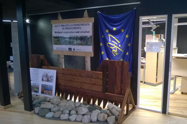 Exhibition of wetland restoration in Liminka Bay Visitor Center Finland3