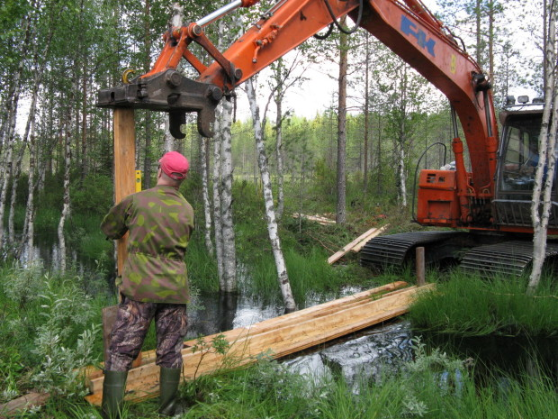 Latvalampi wetland restoration1 Suomussalmi Finland, photo Saara Siekkinen 28.7.2015 resized